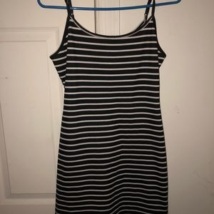 A stripped dress.
